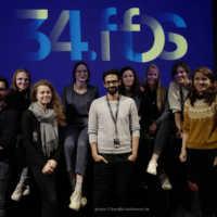 Tag 1 – Eröffnung in der Lagerhalle mit den Kurzfilmgästen des KÖRPER-Programms