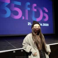 """Tag 2 – Kurzfilmregisseurin und Schauspielerin Yang Ge mit ihren Film """"Nothing Can Stop Us From Loving"""" bei uns in der Lagerhalle"""
