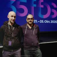 """Tag 3 – Erich Esser (Der Engel der Geschichte) und Victor Orozco Ramirez (Revolykus) besuchen ihr Kurzfilmprogramm """"Evolve"""""""