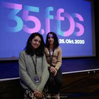 "Tag 4 – Zamarin Wahdat (Regisseurin) und Lara Cengiz (Hauptrolle) des Kurzfilms ""Bambirak"""